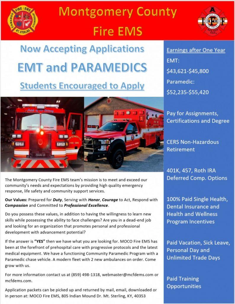 We're Hiring EMT and Paramedics